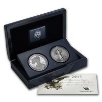2012 American Silver Eagle 2 Coin San Francisco Set