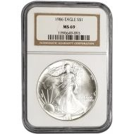 1986 American Silver Eagle - NGC MS 69