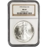 1993 American Silver Eagle - NGC MS 69
