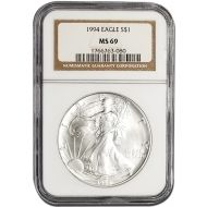 1994 American Silver Eagle - NGC MS 69