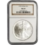 1995 American Silver Eagle - NGC MS 69