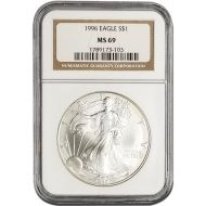 1996 American Silver Eagle - NGC MS 69
