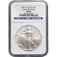 2007 W American Silver Eagle - NGC MS 69 Early Release