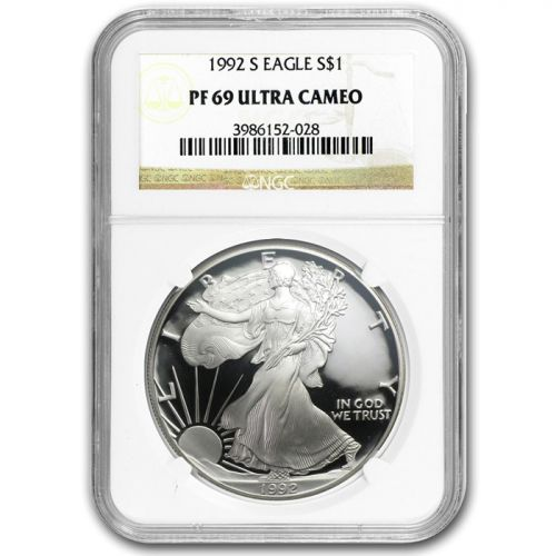 1992 American Silver Eagle - NGC PF 69
