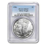 1986 American Silver Eagle - PCGS MS 69