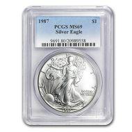 1987 American Silver Eagle - PCGS MS 69