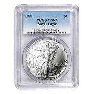 1991 American Silver Eagle - PCGS MS 69