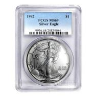 1992 American Silver Eagle - PCGS MS 69