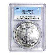 1993 American Silver Eagle - PCGS MS 69