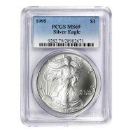 1995 American Silver Eagle - PCGS MS 69
