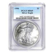 1996 American Silver Eagle - PCGS MS 69