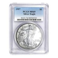 1997 American Silver Eagle - PCGS MS 69