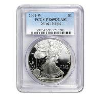 2001 American Silver Eagle - PCGS PF 69