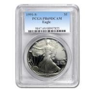 1991 American Silver Eagle - PCGS PF 69