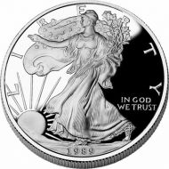 1989 American Silver Eagle - Proof (Coin Only)