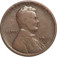 1911 D Lincoln Wheat Penny - G (Good)