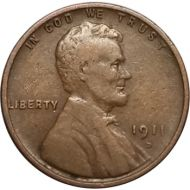 1911 D Lincoln Wheat Penny - VF (Very Fine)