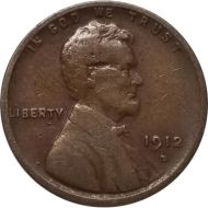 1912 D Lincoln Wheat Penny - VG (Very Good)