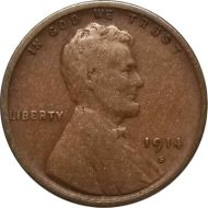 1914 S Lincoln Wheat Penny - VG (Very Good)