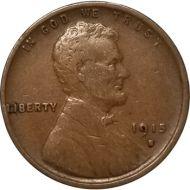 1915 S Lincoln Wheat Penny - F (Fine)