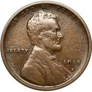 1915 S Lincoln Wheat Penny - VF (Very Fine)