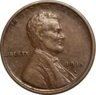 1915 S Lincoln Wheat Penny - XF (Extra Fine)