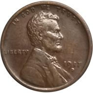 1917 D Lincoln Wheat Penny - XF (Extra Fine)