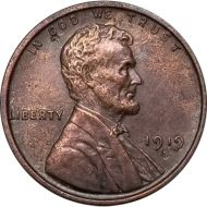 1919 S Lincoln Wheat Penny - AU (Almost Uncirculated)