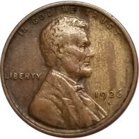 1926 S Lincoln Wheat Penny - VF (Very Fine)
