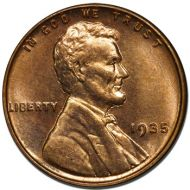 1935 Lincoln Wheat Penny - Brilliant Uncirculated