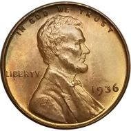 1936 Lincoln Wheat Penny - Brilliant Uncirculated