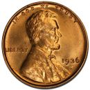 1936 S Lincoln Wheat Penny - Brilliant Uncirculated