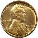 1937 S Lincoln Wheat Penny - Brilliant Uncirculated