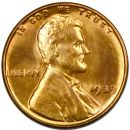 1939 Lincoln Wheat Penny - Brilliant Uncirculated