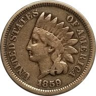 1859 Indian Head Penny - VG (Very Good)