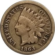 1863 Indian Head Penny - G (Good)
