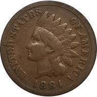 1884 Indian Head Penny - VG (Very Good)