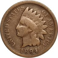 1894 Indian Head Penny - G (Good)