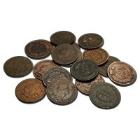 Common Date Indian Head Pennies - Culls