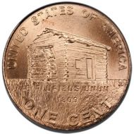 "2009 Lincoln Penny ""Log Cabin"" - Brilliant Uncirculated"