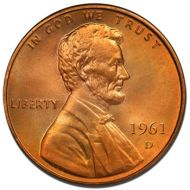 1961 D Lincoln Memorial Penny - Brilliant Uncirculated
