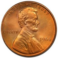 1964 Lincoln Memorial Penny - Brilliant Uncirculated