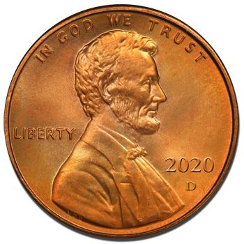 2020 D Lincoln Shield Penny - Brilliant Uncirculated