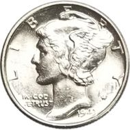 1943 Mercury Dime - BU (Brilliant Uncirculated)