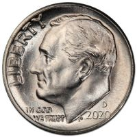 2020 D Roosevelt Dime - Brilliant Uncirculated