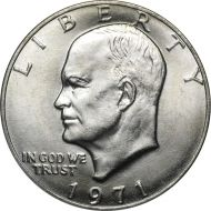 1971 P Eisenhower Dollar - Brilliant Uncirculated