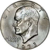 1973 P Eisenhower Dollar - Brilliant Uncirculated