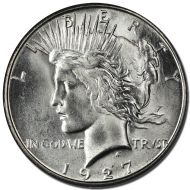1927 D Peace Dollar - (BU) Brilliant Uncirculated