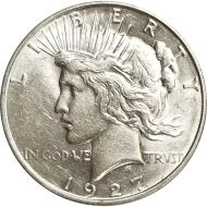 1927 D Peace Dollar - (AU) Almost Uncirculated
