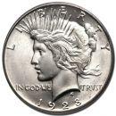 1928 Peace Dollar - (BU) Brilliant Uncirculated